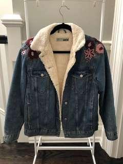 TOPSHOP Sherpa Denim Jacket