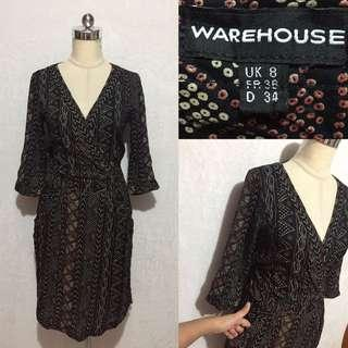 Overlap warehouse dress