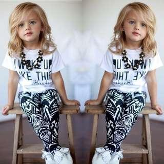 Kids Girl Tshirt With Pants