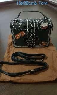 🚚 Brand new mini diary bag in black colour