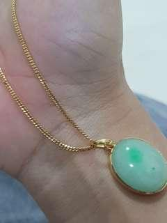 916/22k gold necklace 45cm/1.2mm/3.96g ONLY (NOT INC PENDANT)