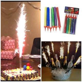 Festival / Birthday Sparkling Fireworks Candles