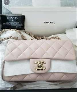 Chanel Bag CF 20cm Pink 淡粉金扣