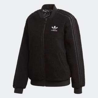 《Q&D》Adidas ORIGINALS 愛迪達  黑色 圖騰 外套 絨毛 DY0872 原價3890 全新 台灣正貨