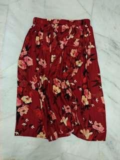 Preloved H&M Flowery Skirt #MMAR18