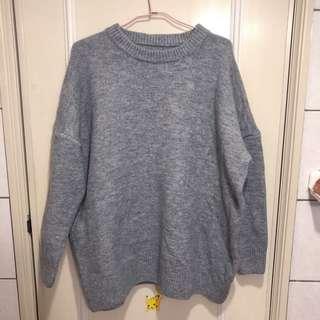 灰色可單穿毛衣