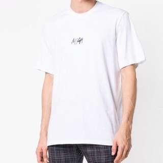 🚚 義大利品牌 Msgm logo t-shirt 白色 短袖 上衣