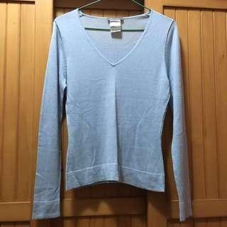 PENNYPULL Pale Blue V-neck Knitwear Pullover 淺藍色V領冷衫