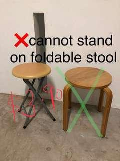 Kallang foldable folding stool stable for sitting only!