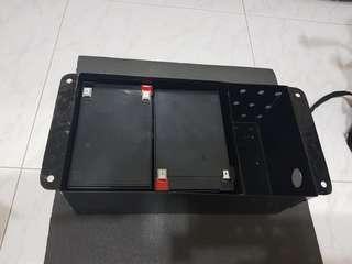 2 batteries rack