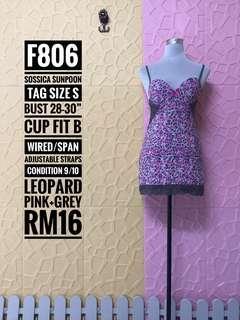 Sossica Sunpoon Intimates Nightwear(Pink+Grey Leopard)