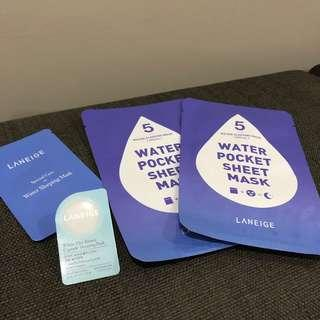 💯 [Laneige] All ~ Water Sleeping Sheet Mask, White Plus Sleeping Mask & Water Sleeping Mask #MMAR18