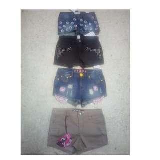 Short pants for girls 70 % off