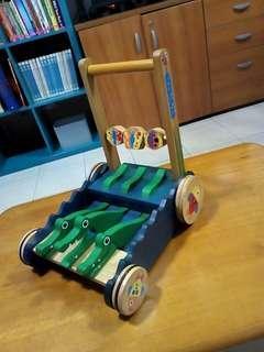 Wooden Chomp & Clack alligator push toy