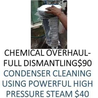 CHEMICAL OVERHAUL for Aircon less cold for only $90,93763389
