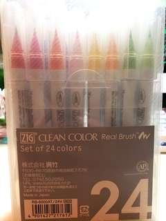 clean color real brush 24色 全新