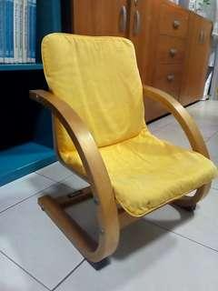 Pretty wooden armchair for baby