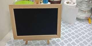 Wooden  chalkboard message board