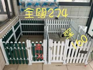 貓狗安全圍欄兩個,可改裝為一個,內有鋼鐵