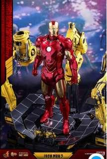 Hot Toys 1/6th Scale Die Cast MMS462D22 Iron  Man 2 Mark  IV with Suit-Up Gantry Collectible Figure