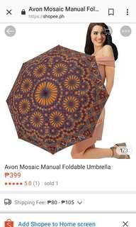 Avon mosaic foldable umbrella
