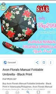 Avon floral foldable umbrella