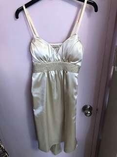 Forever 21 silky off-white dress