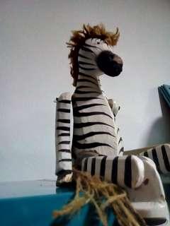 Handsome wooden zebra