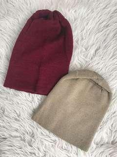 Bonnet (Maroon and Light Brown)