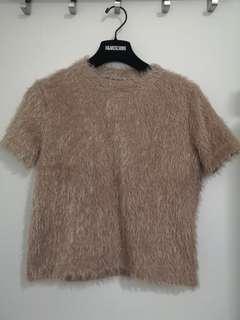 Zara Fur tshirt