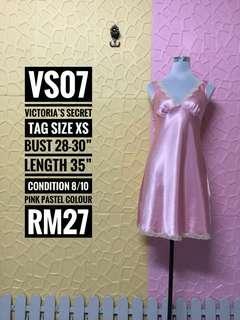 Victoria's Secret Vintage Pink Heavy Satin Chemise