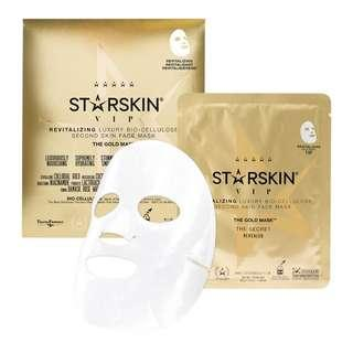 🚚 STARSKIN  The Gold Mask™ VIP Revitalizing Luxury Bio-Cellulose Second Skin Face Mask