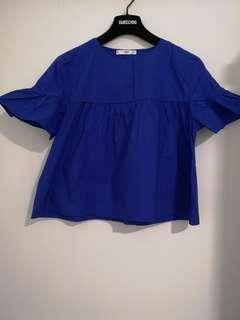MANGO blue top