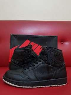 Original Nike Air Jordan 1 Retro Hi OG Perforated Black
