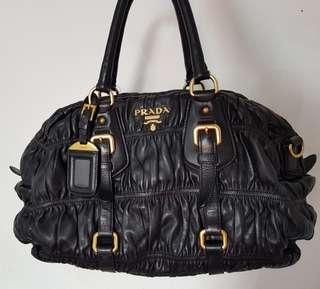 Prada Gaufree Authentic Leather black