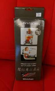 Minimonkey嬰兒安全便攜座椅安全帶~灰色(包平郵)