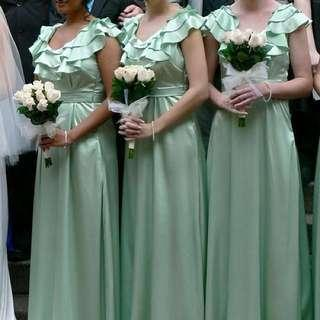 🔸 Mint Green Formal / Bridesmaid Dress