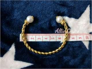 TB rope Tory Burch 繩索黃銅珍珠 開口 手環