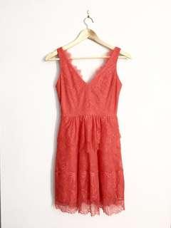 BCBG MAXAZRIA sleeveless lace dress XXS