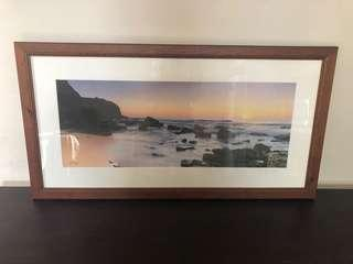 Framed limited edition Turimetta beach sunrise