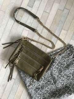 Authentic Rebecca Minkoff 5 zip crossbody
