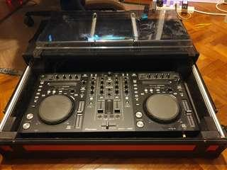 Pioneer DDJ-S1 DJ Controller for Serato DJ Pro, w/ Decksaver and Custom-built Flight Case