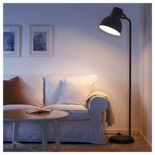 🚚 Black Hektar Floor lamp from IKEA