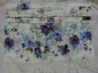 Pashmina Shawl Purple & Blue