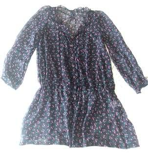 Cherry Print Sheer Dress