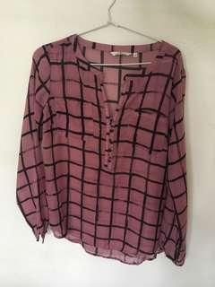 Dusty Pink Black Shirt