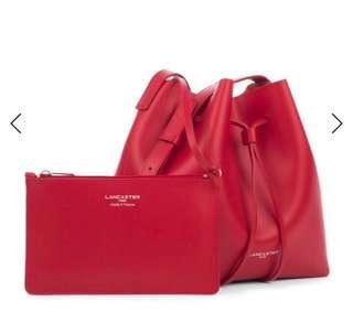 Lancaster Small Bucket Bag Red