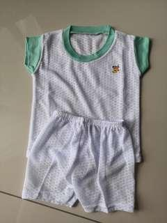 (NEW) 2 sets Baby Eyelet Suit