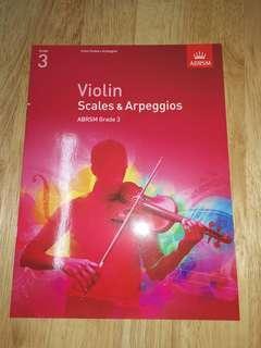全新 ABRSM Violin Grade 3 Scales & Appregios