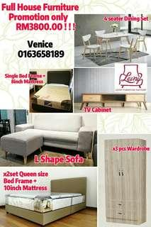 Full House Furniture only RM3800.00 !!!